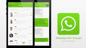Nederlandse webdesigner maakt conceptversie WhatsApp voor iOS 7