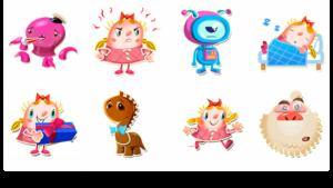 Candy Crush Saga stickers voor Facebook