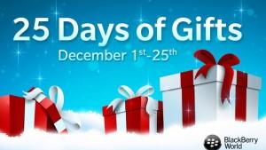 BlackBerry biedt 25 top-apps gratis aan voor Kerstmis