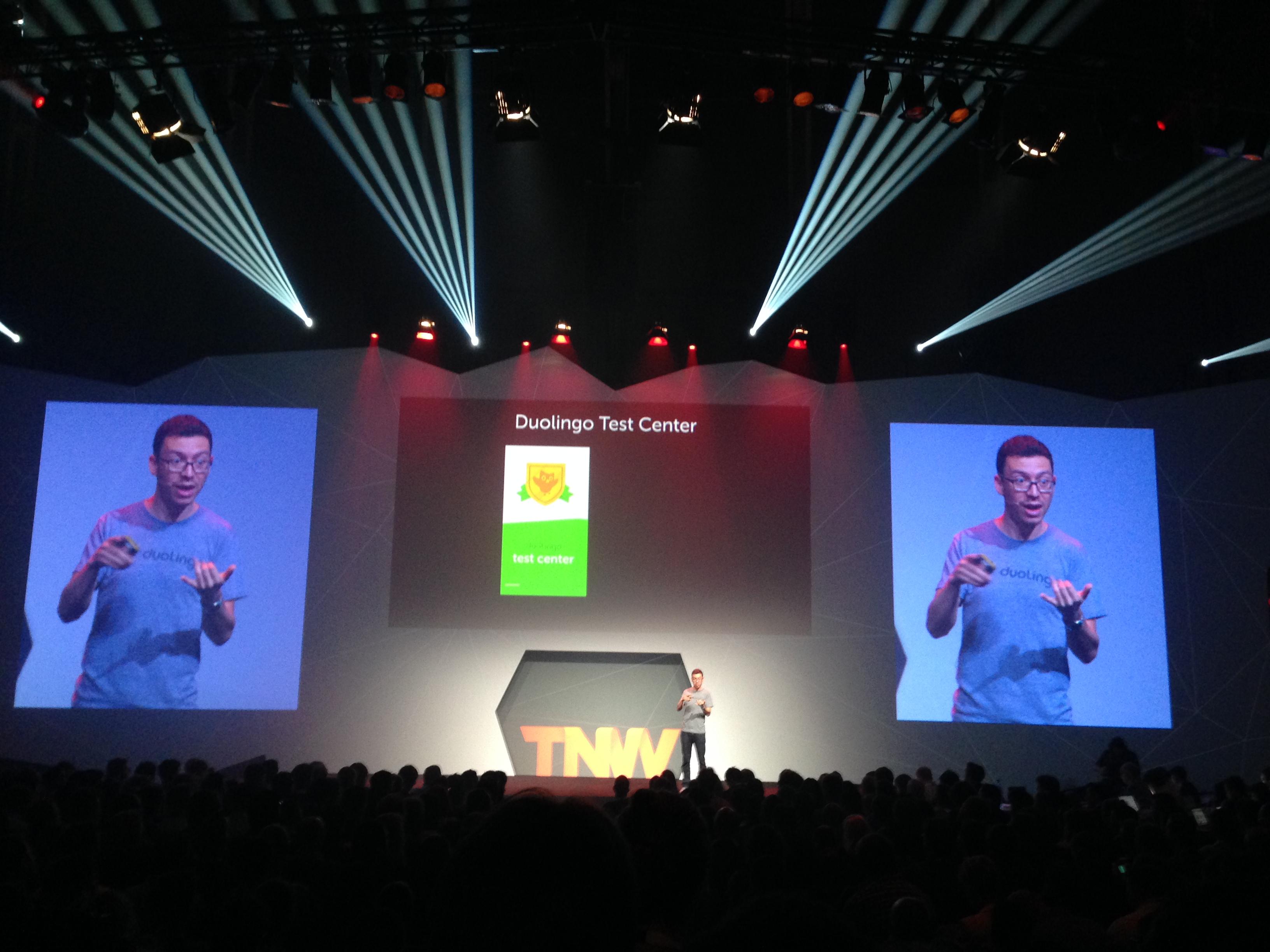 Luis von Ahn tijdens The Next Web Conference 2014