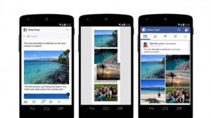 Facebookが写真シェア機能を改善 画像レイアウトをカスタマイズ可能に