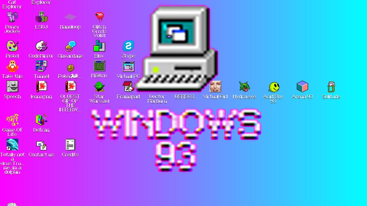 ブラウザーで使えるOS 「Windows 93」がリリース
