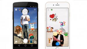 Facebookがカメラアプリをリリース FBステッカーでデコり放題