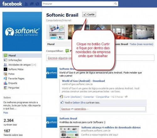 Como curtir uma página de empresa no Facebook