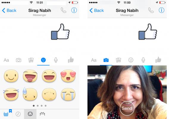 E os selfies invadem também o Facebook Messenger