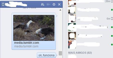 GIF animado para facebook messenger