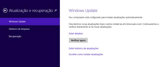 Windows Update do Windows 8 também cuida da atualização dos drivers