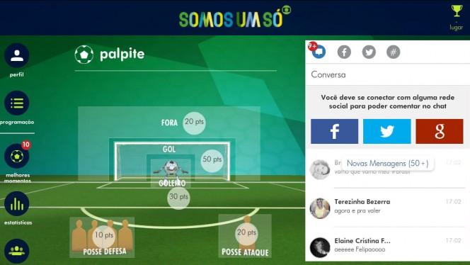 Globo oferece recursos de interatividade com o espectador