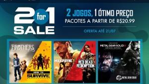 """Sony faz promoção """"2 por 1"""" em sua loja virtual de jogos para PlayStation"""