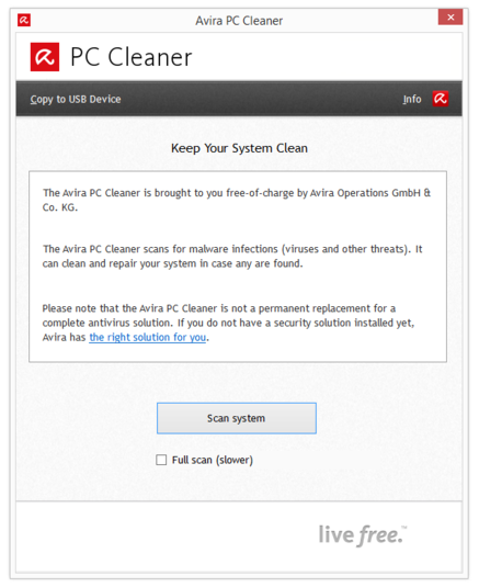 Interface do PC Cleaner