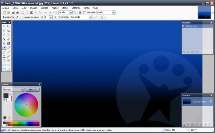 Screenshot do Paint.NET