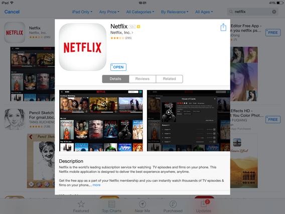Download Netflix iTunes AppStore