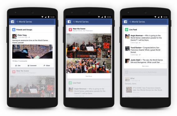 Trending Topics no Facebook para Android