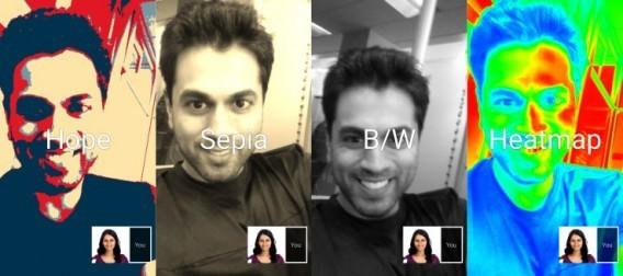 Novos filtros do Google Hangouts