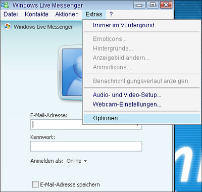 how to remove windows live messenger from startup