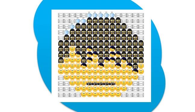 Geheime Skype-Emoticons und Smiley-Kunst