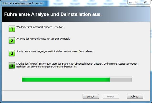 Windows Live Messenger mit Revo Uninstaller deinstallieren
