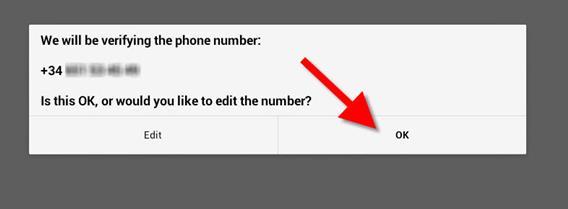 Confira se o número de telefone está correto