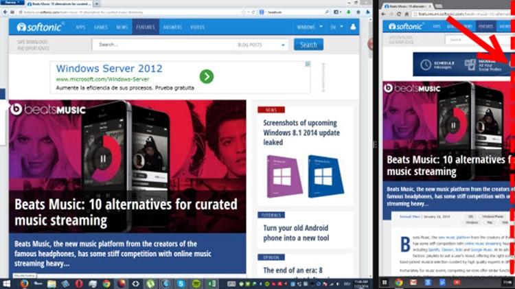 O novo Chrome não se ajusta devidamente ao recurso de tela dividida do Windows 8