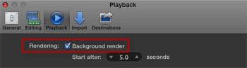 Final Cut Pro X - Background Rendering