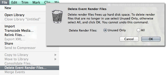 Final Cut Pro X - Renderfiles