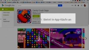 Google Play Store informiert über In-App-Einkäufe