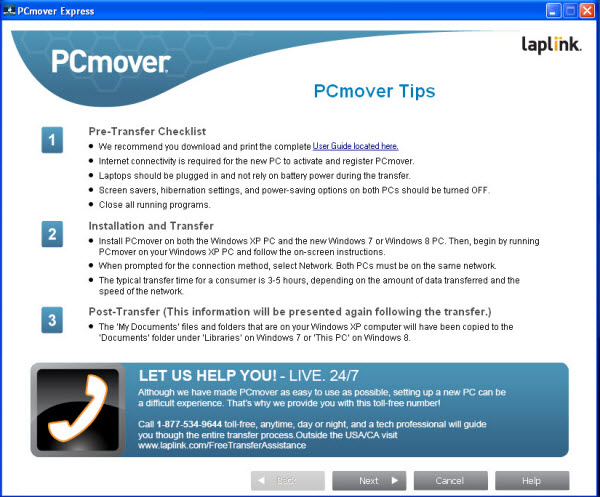 PCmover Express Tips