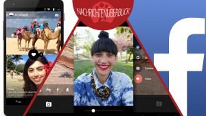 Google Kamera von Android KitKat als eigene App, Frontback Selfie App für Android, Facebook mit Reiseoption