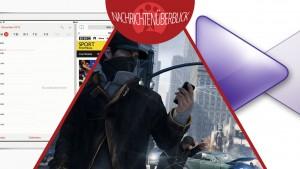 Neuer Trailer erklärt Watch Dogs, Splitscreen-Multitasking in iOS 8, KMPlayer mit neuer Connect-Funktion