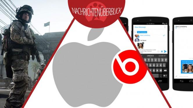 Softonic-Nachrichtenüberblick 29.05.2014: Apple kauft Beats, Facebook Auto-Sharing, Battlefield 3 kostenlos