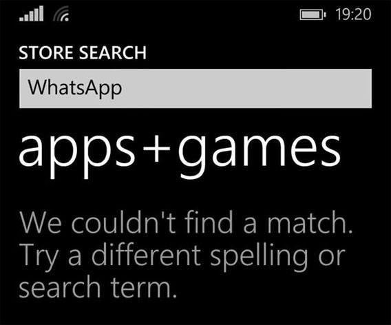 WhatsApp Windows Phone: Nicht im Windows Phone Store verfügbar