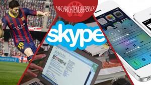 News des Tages: Microsoft blockiert ältere Skype-Versionen, Update auf iOS 7.1.2, neue FIFA 15-Videos