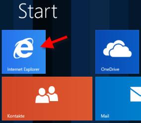 Ícone do Internet Explorer para o Windows 8