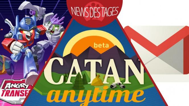 News des Tages: Siedler von Catan, Gmail-Update für iOS und Android, Angry Birds Transformers