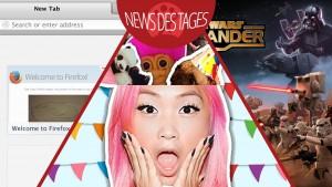News des Tages: Mozilla Firefox Werbekacheln, eigene Sticker mit Imoji erstellen, Star Wars: Commander