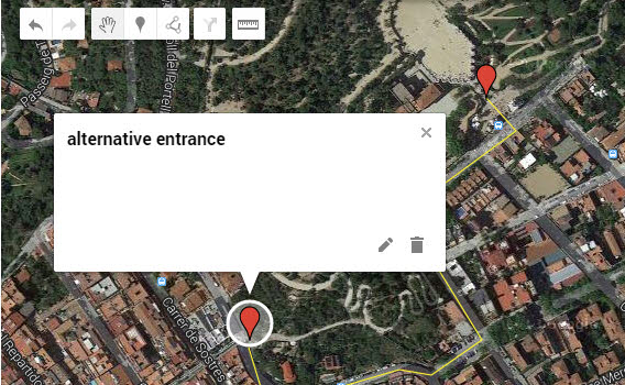 Google My Maps Add marker tool example