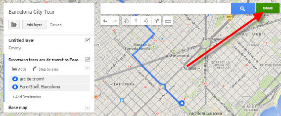 Google My Maps share custom map 000