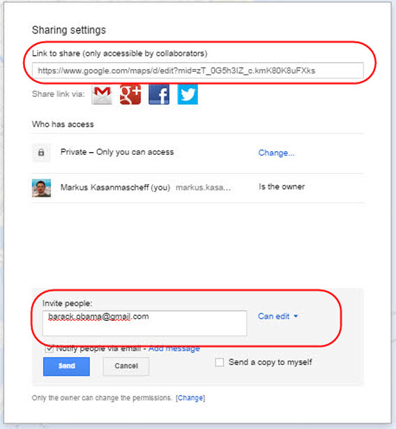 Google My Maps share custom map 03