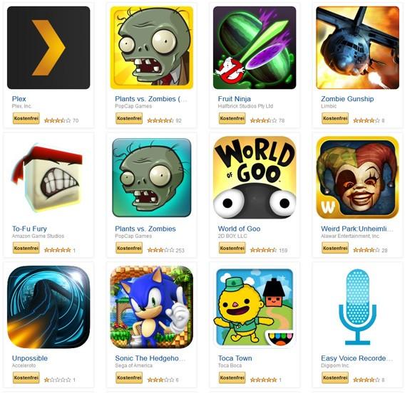 Amazon Gratis-Apps: Mit kostenlosen Apps im Amazon Appstore mehr als 100 Euro sparen