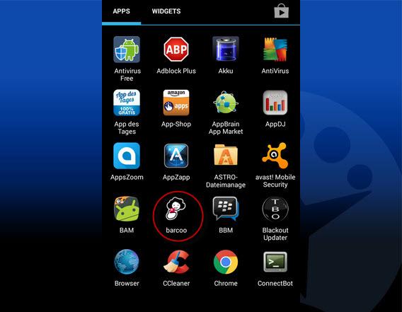 installierte App im App-Browser