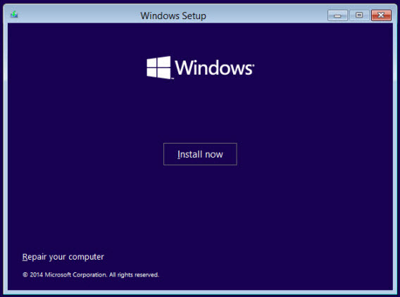 Installer Windows 10 technical preview sur la machine virtuelle