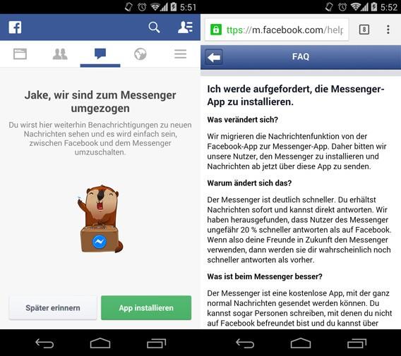 Facebook: Chat-Funktion lässt sich in der Facebook-App wieder ohne Facebook Messenger nutzen