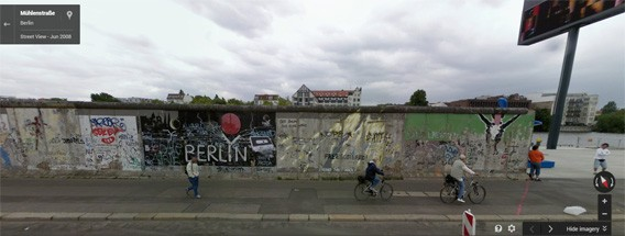 25 Jahre Mauerfall: Erkunden Sie die Geschichte mit Google Maps und HERE