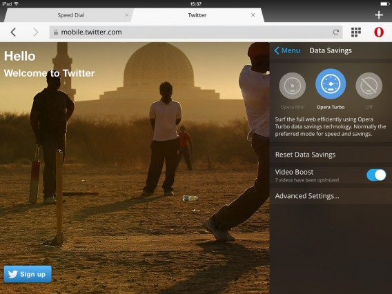 Opera Mini 9 für iOS mit Video Boost beschleunigt das Streaming dank Daten-Kompression