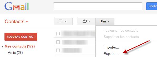 Exporter une liste de contacts Gmail Softonic