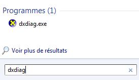 DirectX commande dxdiag