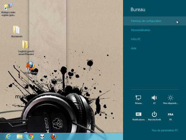 Panneau de Configuration Windows 8 Bureau