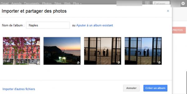 Softonic Finaliser la création d'un album photo sur Google +