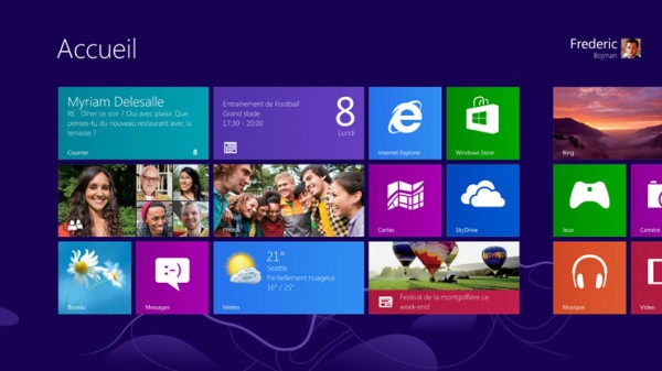 bureau windows 8