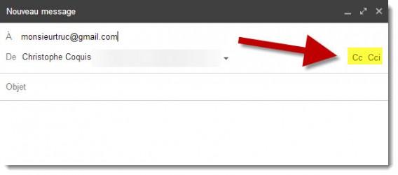 CC et CCi dans Gmail - Email